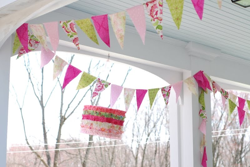 A Simple Life: Fabric Flag Banner Tutorial