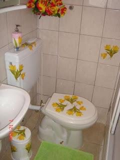 декупаж ванной комнаты