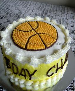... birthday cakes and voila small birthday cake dengan dekor bola basket
