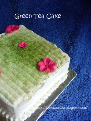 Low Fat Green Tea Cake