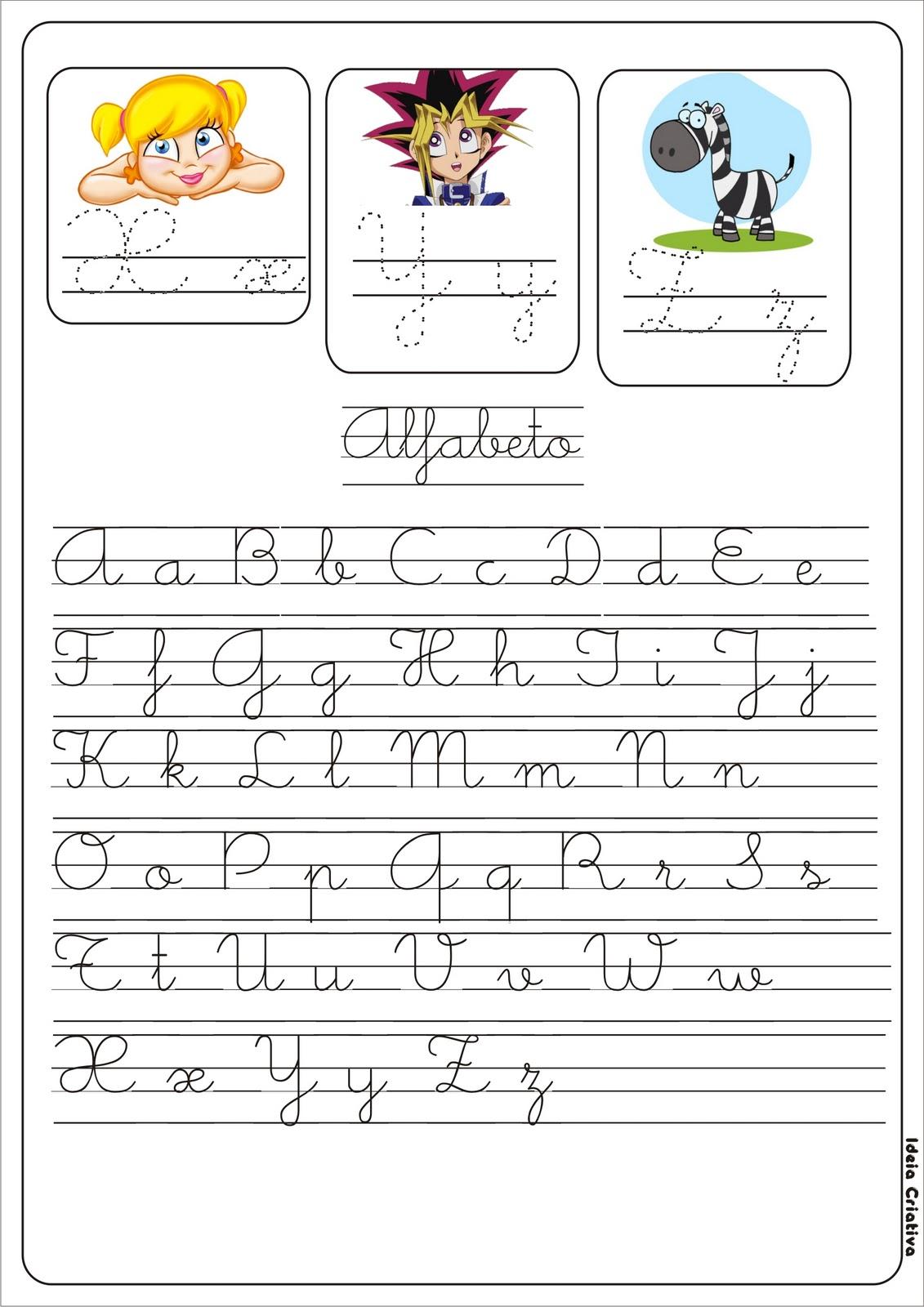 alfabetinho que pode ser impresso e colado no caderno da criança