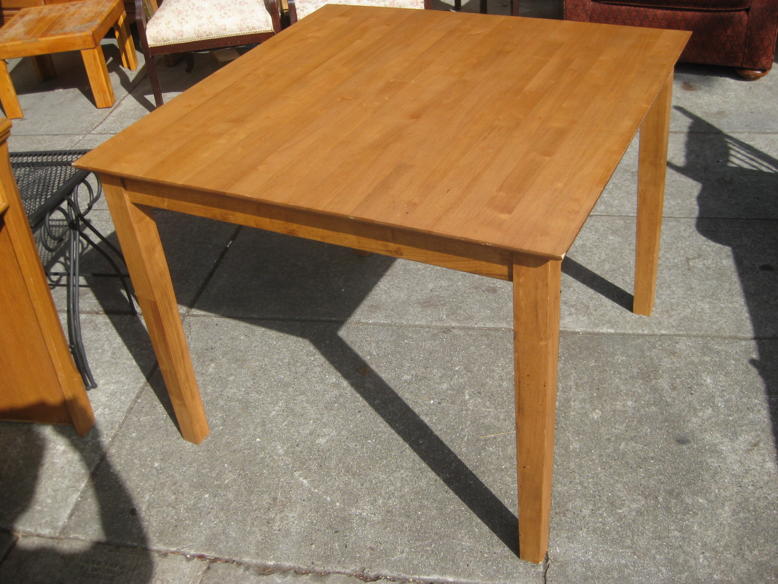 furniture collectibles sold handsome square kitchen table 55