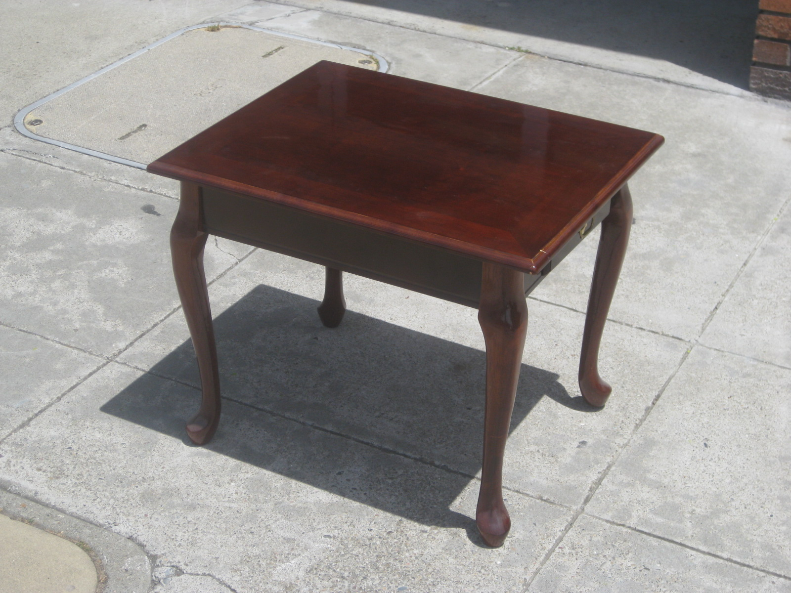 SOLD   Square Queen Anne End Table   $55