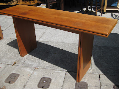 Uhuru furniture collectibles sold danish console dining table 85 - Console table that converts to dining table ...