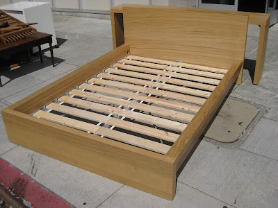 ikea platform bed on Furniture   Collectibles  Sold   Full Ikea Platform Bed   Table    100