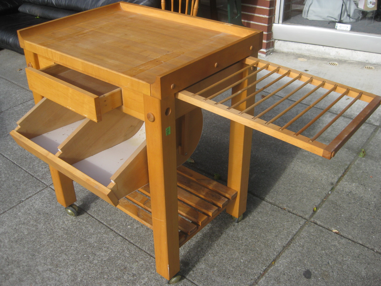 uhuru furniture collectibles sold rolling le gourmand butcher