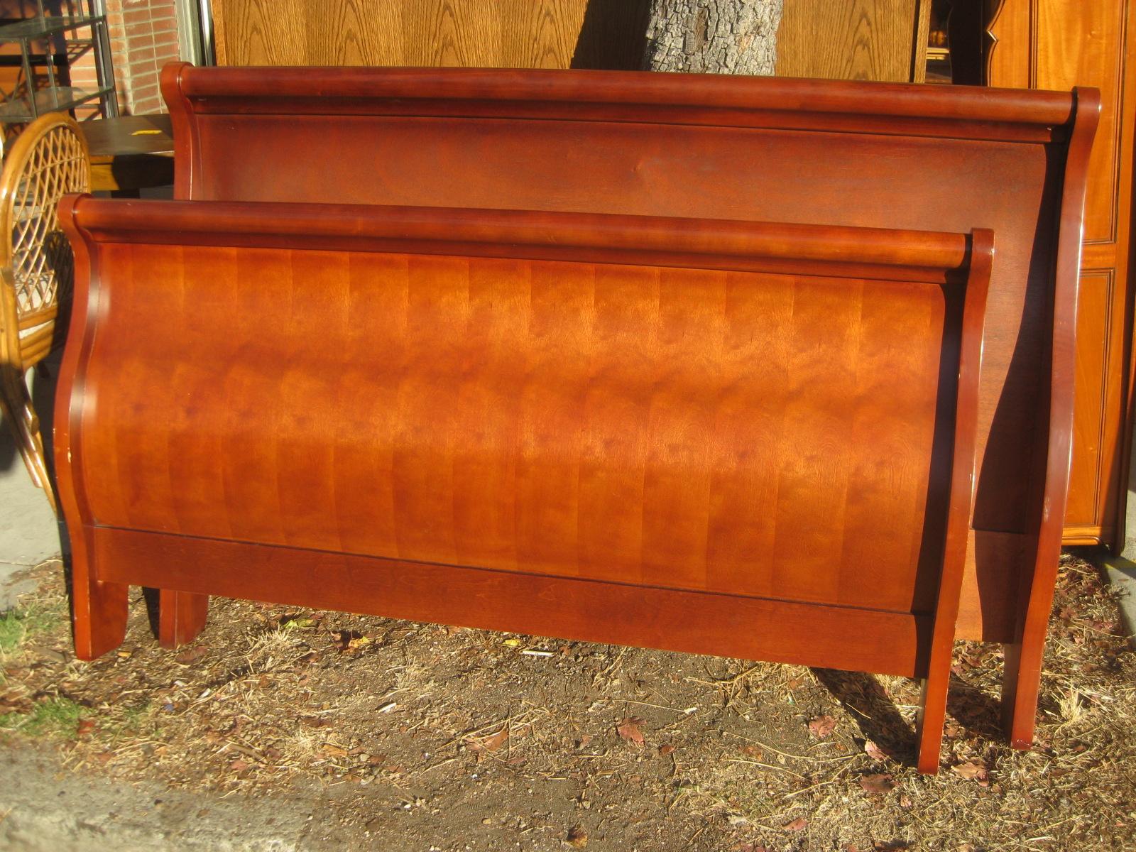 sold queen sleigh bed frame - Queen Sleigh Bed Frame