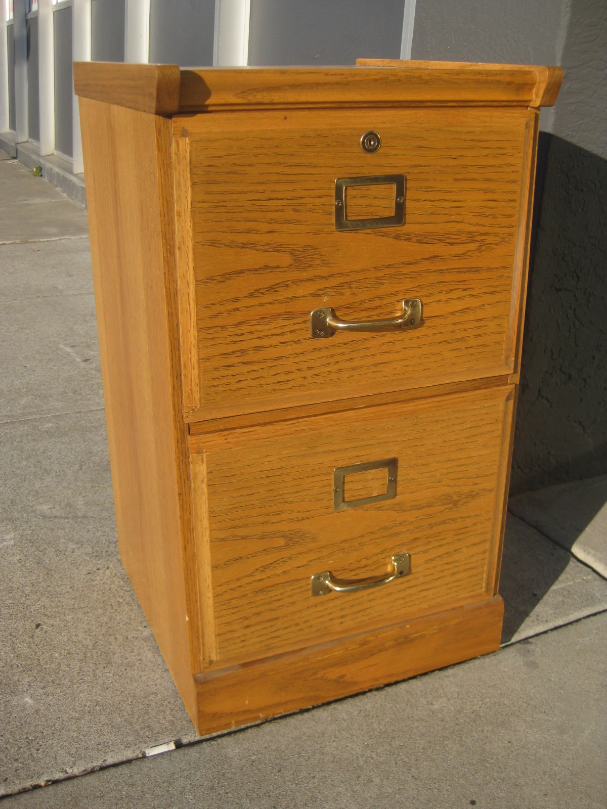 Sold Oak 2 Drawer File Cabinet 40