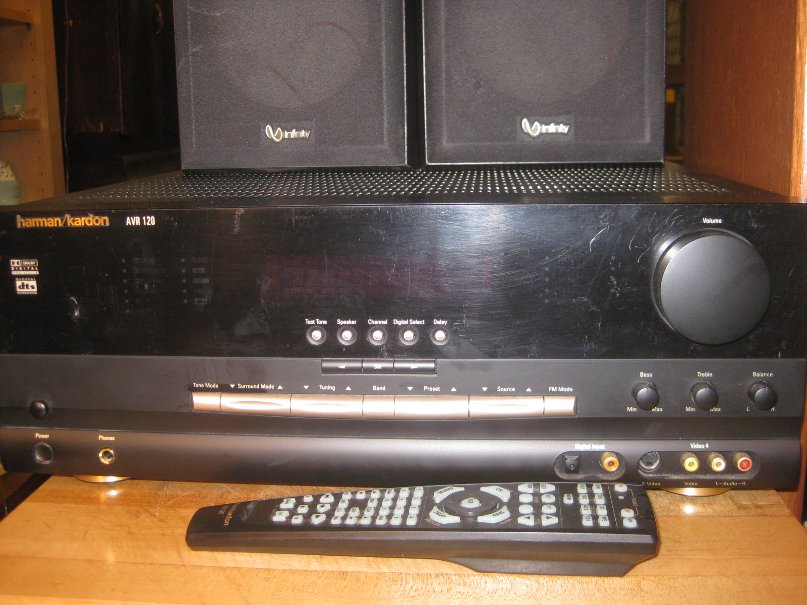Harman Kardon Avr 120 Home Theater Receiver For Parts Or Repair On