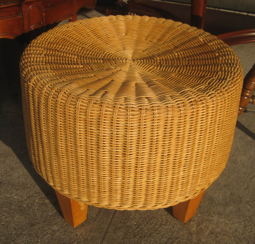 sold wicker ottoman 20
