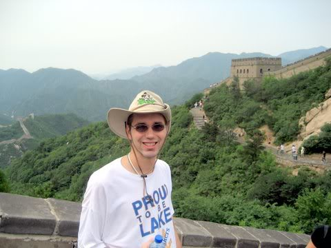 At The Great Wall of China