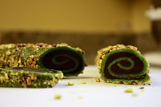 The Missing Piece Chocolate Pistachio Marzipan Spirals