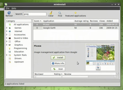 The Mint software installer with screenshots