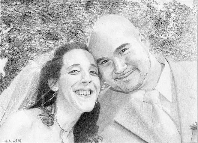 Soraya & Yann à leur mariage le 9 août 2008