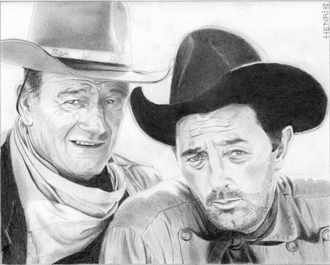 John Wayne & Robert Mitchum