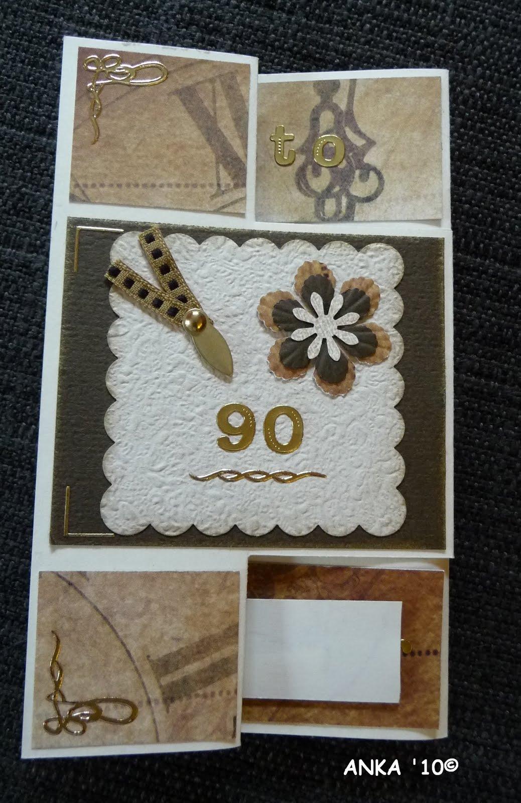 Ankas bastelseiten geschenk zum 90 geburtstag - Geburtstagsideen zum 90 ...
