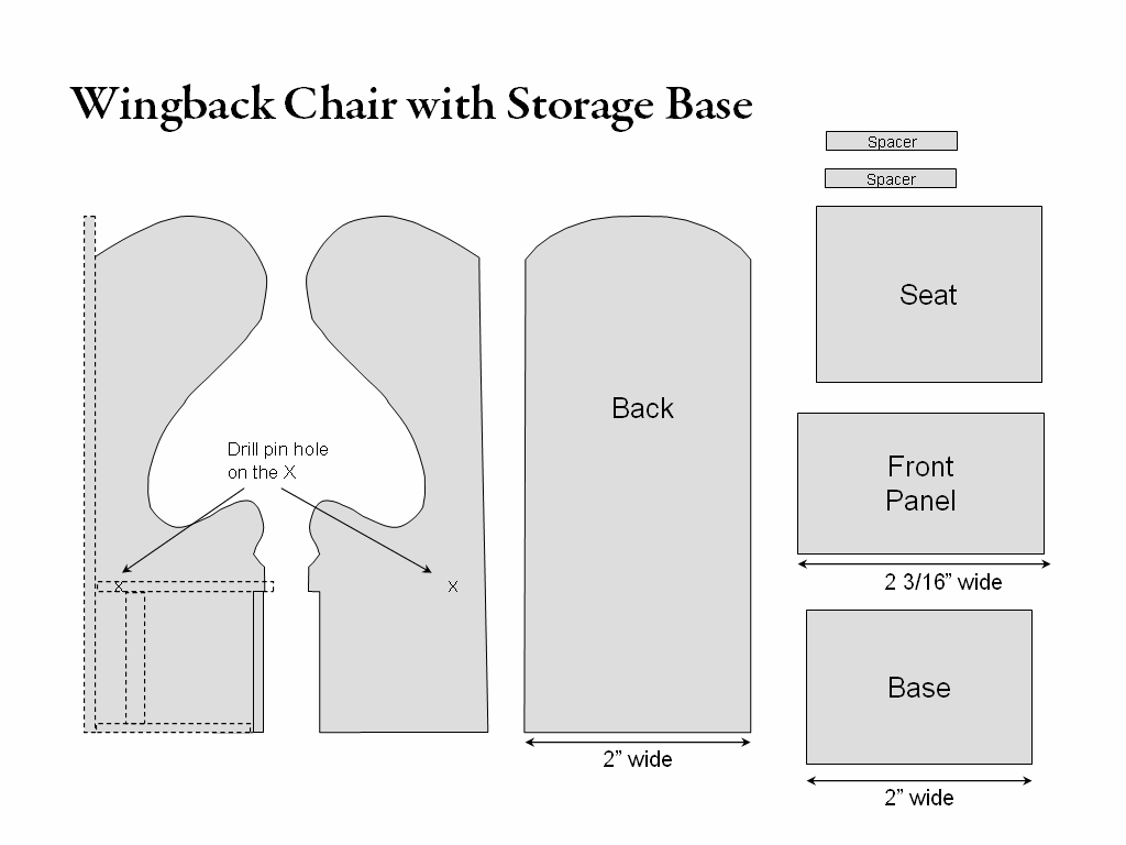 How to build a wingback chair my woodworking plans - How To Build A Wingback Chair My Woodworking Plans
