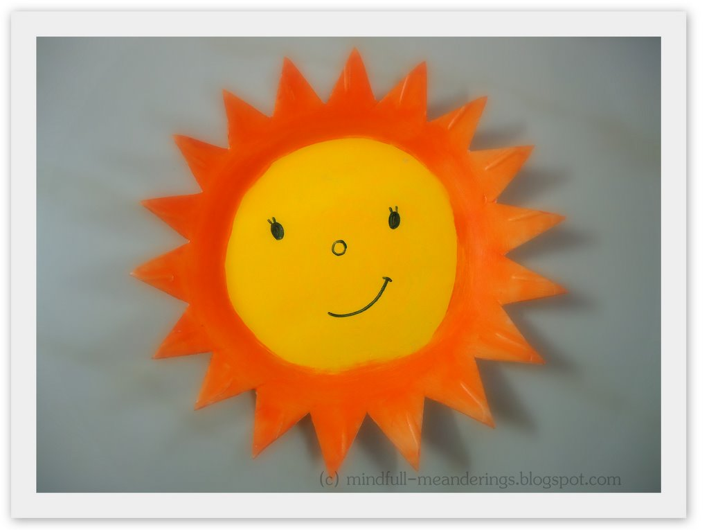 ThermocolPlateSun | Thermocol Styrofoam Plate Sun | Thermocol Crafts