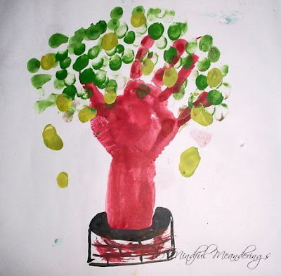 Finger painting mango tree
