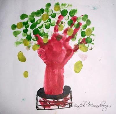 Finger painting mango tree