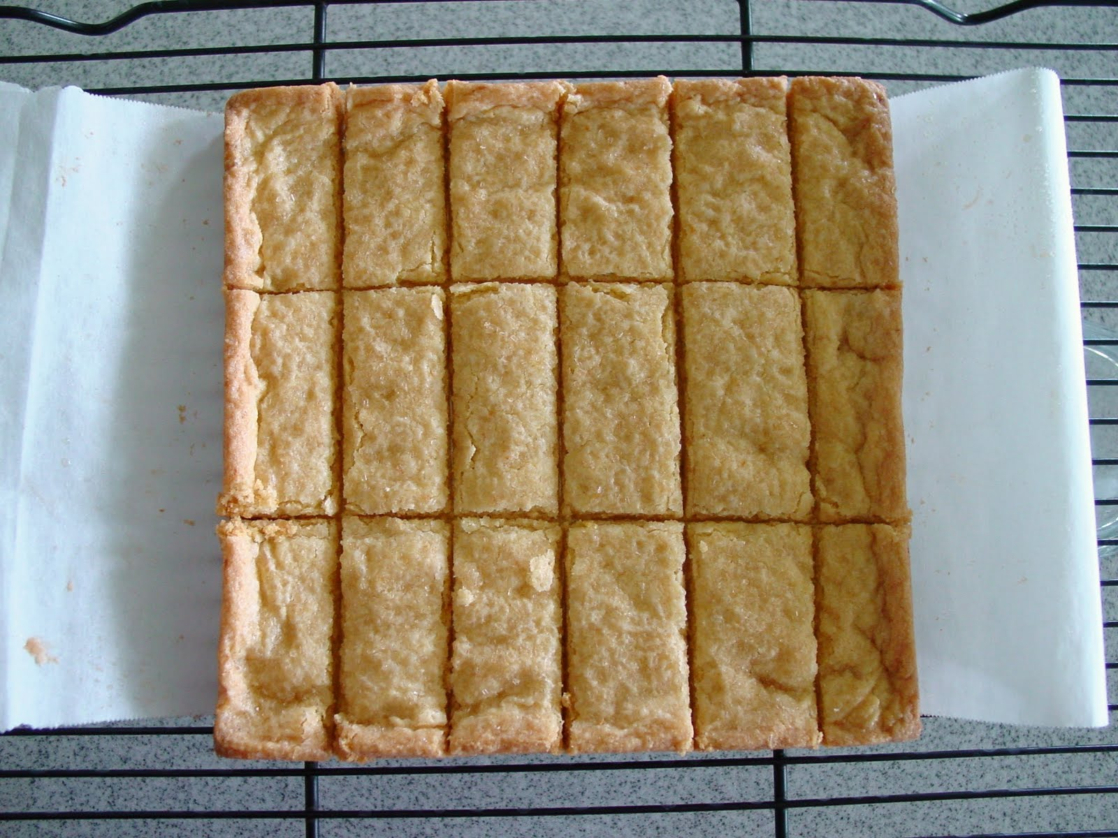 NOTES: It's important to cut the shortbread as soon as it comes out ...