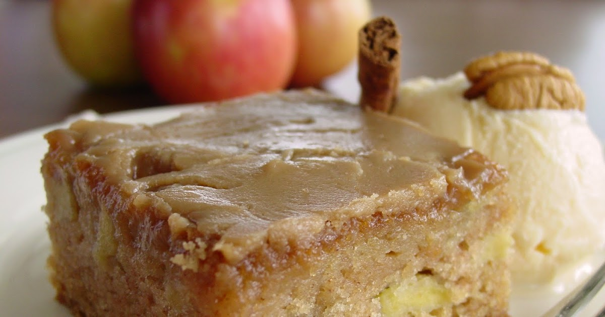 Fresh Apple Cake W Brown Sugar Glaze