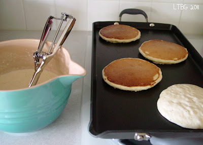 Lick the bowl good perfecting the pancake for fluffy pancakes make sure your baking soda is fresh not expired and ladle or scoop the batter onto the griddle allow it spread on its own and rise ccuart Image collections