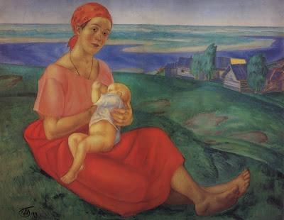 Петров-Водкин, Кузьма Сергеевич (1878 - 1939), картина Мать