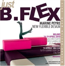 L'expo JUST B.FLEX a attiré quelques 5000 visiteurs Galleria Isarte, à Milan pendant la Design Week