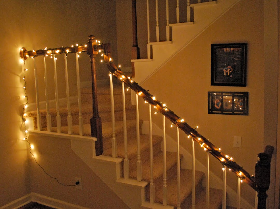 The blog of kimness christmas decorations for How to decorate a banister