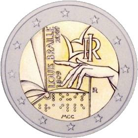 Braille Euro Coin
