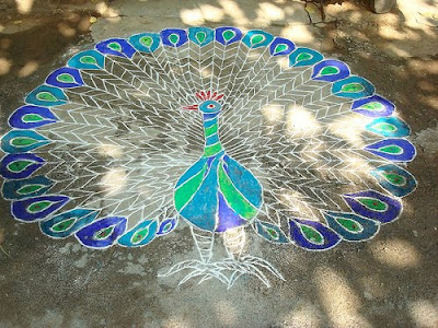 Some unusual Diwali rangoli designs