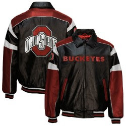 Purchase Your Ohio State Buckeye's Leather Jacket Today!