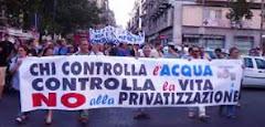 No alla privatizzazione dell'Acqua bene comune