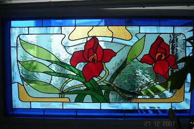 Mis vitrales vitral para la ventana de una cocina - Vidrieras modernas ...