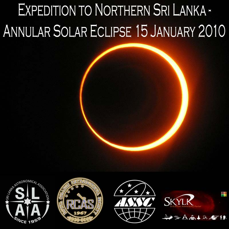 Annular, Solar, Eclipse, Expedition 2010, 15, January