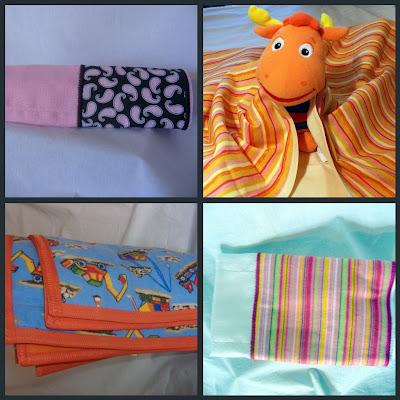 burpcloth baby blanket collage