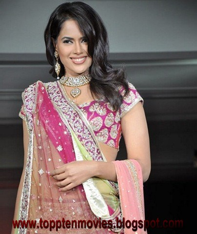 Sameera Reddy Awesome Hot in Transparent Saree Exposing Her Deep Navel