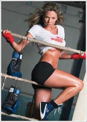 boxing model by hot girl boxer