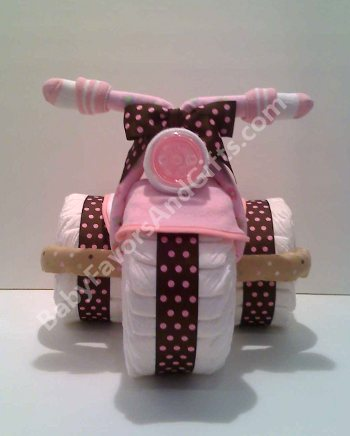 tricycle diaper cake centerpiece unique baby shower gift ideas
