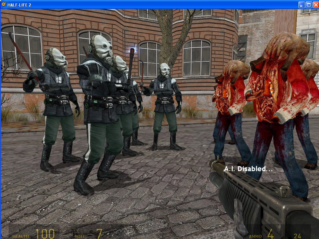 HL2 FUNNY PICS: The gang fight, zombies vs. metrocops.