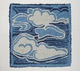Stylized Clouds, Linen & Thread, 2010, $100