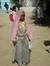 Une élève de l'école laïque de Djerba