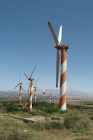 Wind turbines on the Golan Heights