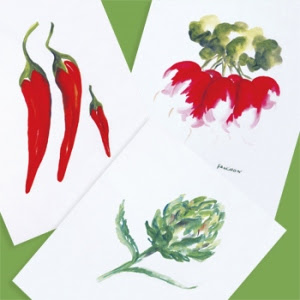 Legumes Vegetables Tea Towel Set