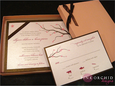 Cherry Blossom Boxed Wedding Invitations