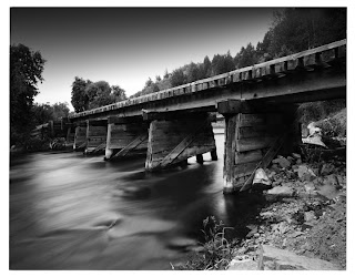 Train bridge over the Provo River - Black and White Photography - Brandon Allen