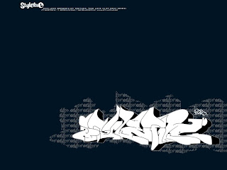 White Black Graffiti Alphabet Tagging Design