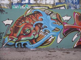 Fish Design Graffiti Tagging