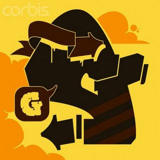 Graffiti Alphabet Letter G Brown Color Fonts